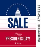 presidents day sale banner with ... | Shutterstock .eps vector #574248916