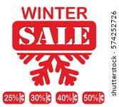 winter sale  red stamp  text... | Shutterstock . vector #574252726