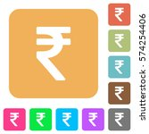 indian rupee sign flat icons on ... | Shutterstock .eps vector #574254406
