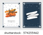 happy valentine's day greeting... | Shutterstock .eps vector #574255462