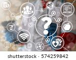 medicine health care faq iot... | Shutterstock . vector #574259842