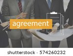 deal agreement commitment... | Shutterstock . vector #574260232