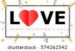 web banner for valentine's day | Shutterstock .eps vector #574262542
