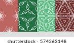set of flower  geometric...   Shutterstock .eps vector #574263148