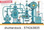 big fantastic intricate...   Shutterstock .eps vector #574263835