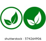 icons with isolated green leaves | Shutterstock .eps vector #574264906
