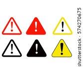 vector illustration of warning...   Shutterstock .eps vector #574270675
