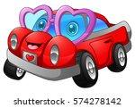 vector illustration of cartoon... | Shutterstock .eps vector #574278142