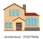 modern flat luxury minimalistic ... | Shutterstock .eps vector #574279606