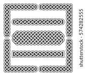 celtic knots vector medieval... | Shutterstock .eps vector #574282555