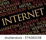 internet word cloud  technology ... | Shutterstock .eps vector #574283158