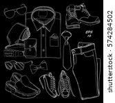 vector illustration set of hand ...   Shutterstock .eps vector #574284502