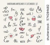 set of hand drawn ampersands... | Shutterstock .eps vector #574284682