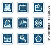 data web icons  navy square... | Shutterstock .eps vector #57428701