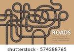 many winding roads in modern... | Shutterstock .eps vector #574288765