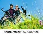 Cycling Senior Couple