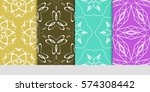 set of floral ornament.... | Shutterstock .eps vector #574308442