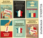 france presidential election... | Shutterstock .eps vector #574309726
