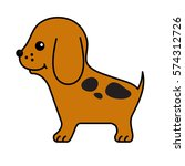 puppy. funny cartoon little... | Shutterstock . vector #574312726