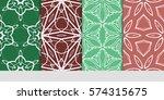 set of decorative geometric...   Shutterstock .eps vector #574315675