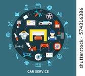 auto service design concept... | Shutterstock .eps vector #574316386