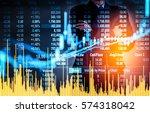 stock market or forex trading... | Shutterstock . vector #574318042