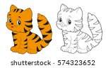 vector  isolated  cartoon cat ...   Shutterstock .eps vector #574323652