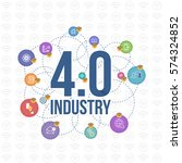 industry 4.0 concept business... | Shutterstock .eps vector #574324852