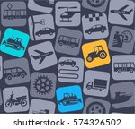 transport and construction... | Shutterstock .eps vector #574326502