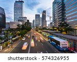 traffic rushes in jakarta... | Shutterstock . vector #574326955