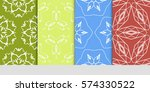 set of lace seamless pattern....   Shutterstock .eps vector #574330522