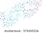 structure molecule and... | Shutterstock .eps vector #574335226