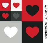 heart icon vector. love symbol. ... | Shutterstock .eps vector #574335295