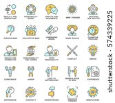 icons personality psychology.... | Shutterstock .eps vector #574339225