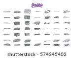 hand drawn scribble doodle set... | Shutterstock .eps vector #574345402