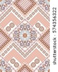seamless  ethnic pattern in... | Shutterstock .eps vector #574356322