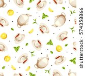 vector seamless pattern with... | Shutterstock .eps vector #574358866