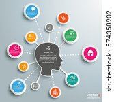 infographic design with human... | Shutterstock .eps vector #574358902