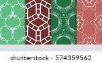 set of decorative geometric... | Shutterstock .eps vector #574359562