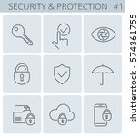 security  business data... | Shutterstock .eps vector #574361755
