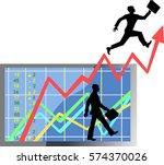 stock market number on screen...   Shutterstock .eps vector #574370026