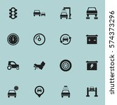 set of 16 editable vehicle... | Shutterstock . vector #574373296