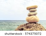 stones balance and wellness... | Shutterstock . vector #574375072