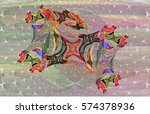 Abstract Painting. Horse In Th...