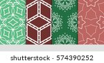 set of decorative geometric... | Shutterstock .eps vector #574390252