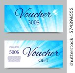gift voucher template on three... | Shutterstock .eps vector #574396552