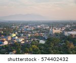 cityscape chantaburi with... | Shutterstock . vector #574402432
