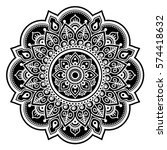mandala design  mehndi  indian... | Shutterstock .eps vector #574418632