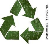 vector illustration of green... | Shutterstock .eps vector #574420786