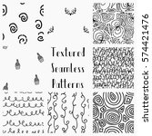 set of abstract hand drawn... | Shutterstock .eps vector #574421476